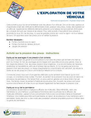 Downloadable activity screenshot of cover for Exploring your vehicle
