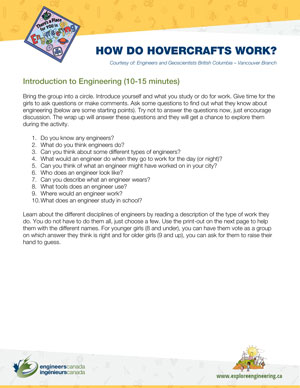 Downloadable activity screenshot of cover for How do Hovercrafts work