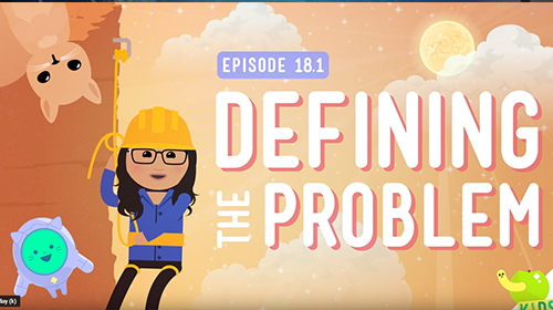 Defining a problem video image